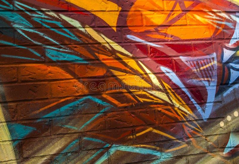 Graffiti, buntes städtisches stockbild