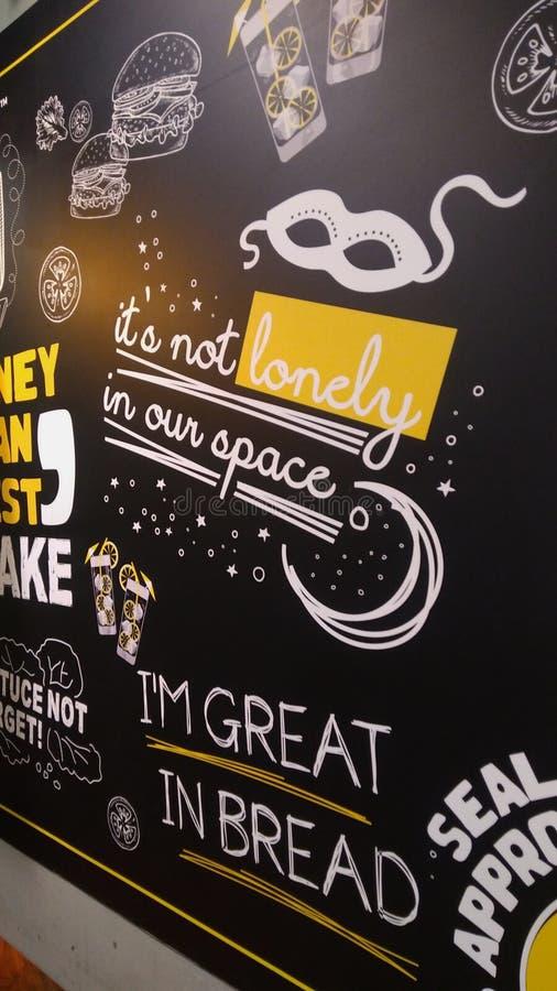 Graffiti at a coffee shop royalty free stock photo