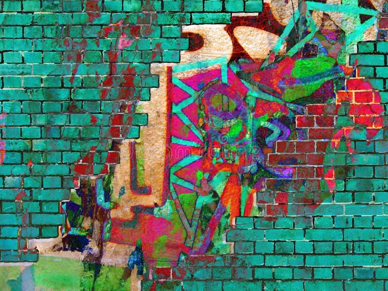 Graffiti .Collage royalty free stock photo