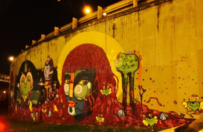 Graffiti Colombia immagini stock libere da diritti