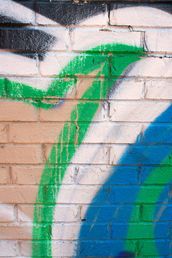 Download Graffiti Covers Brick Wall stock image. Image of background - 30545037
