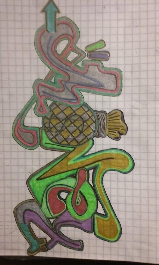 Graffiti d'argent photo libre de droits