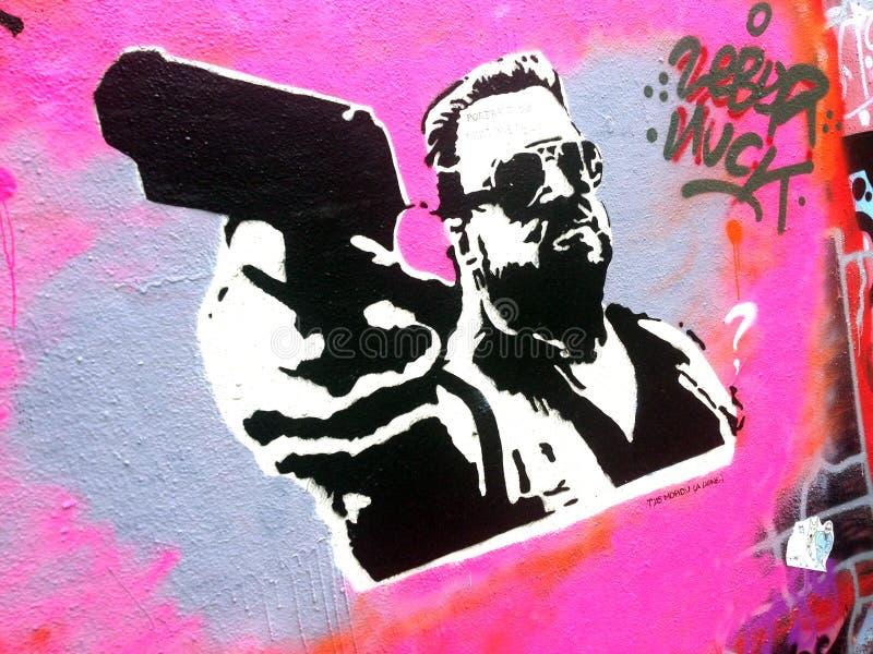 Graffiti d'arme à feu image libre de droits