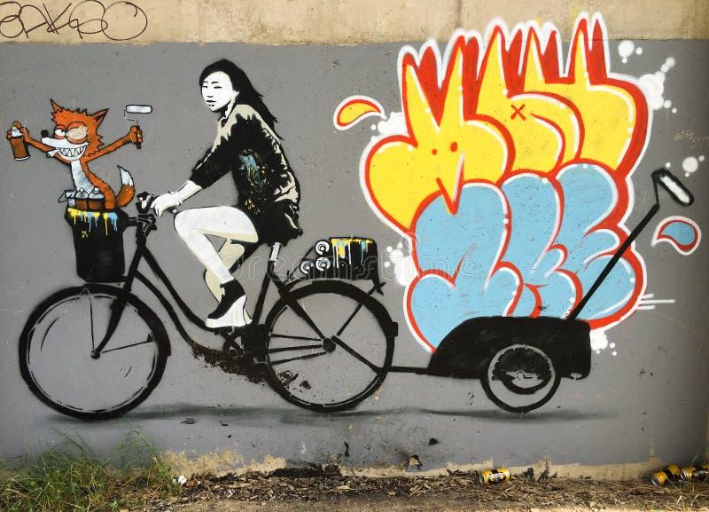 Graffiti de Barnstaple image stock