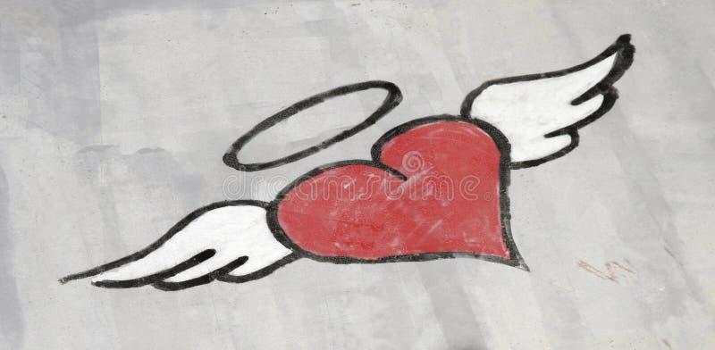 Graffiti de coeur image libre de droits