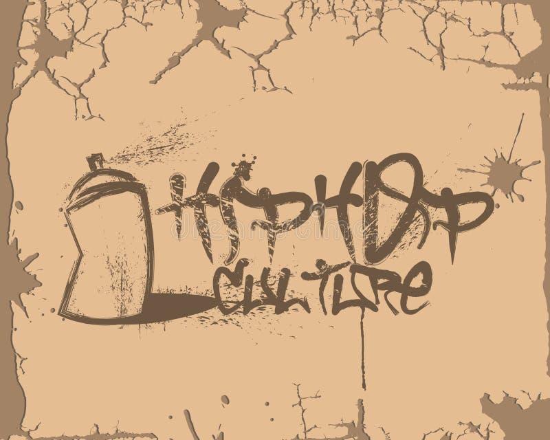 Graffiti de culture de Hip Hop illustration de vecteur