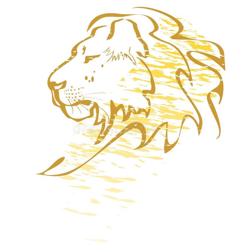 Graffiti de lion illustration de vecteur
