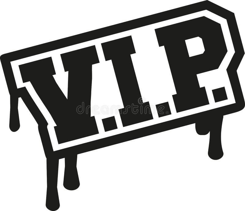 Graffiti de mot de VIP illustration stock