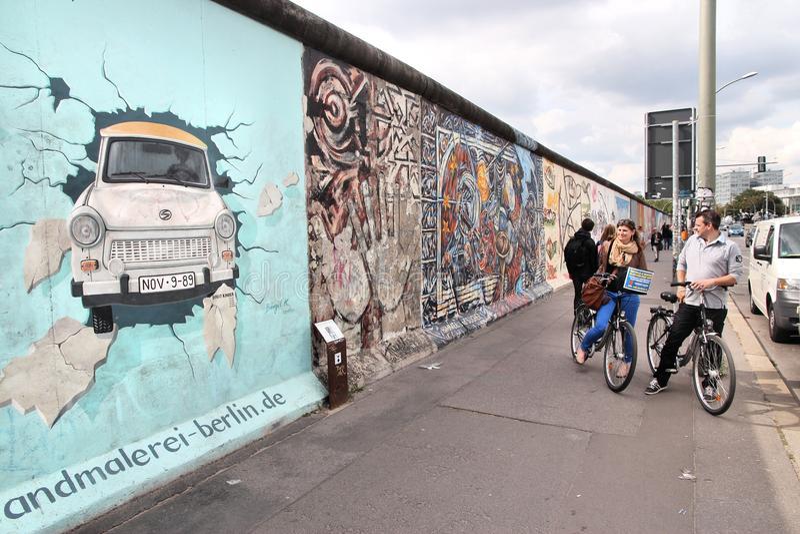 Graffiti de mur de Berlin photo libre de droits