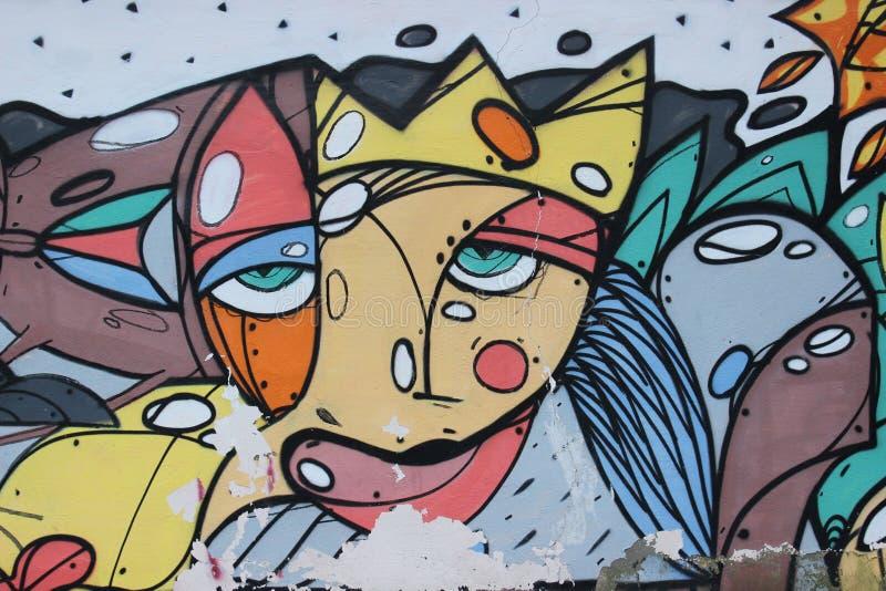 Graffiti de mur dans la ville images libres de droits