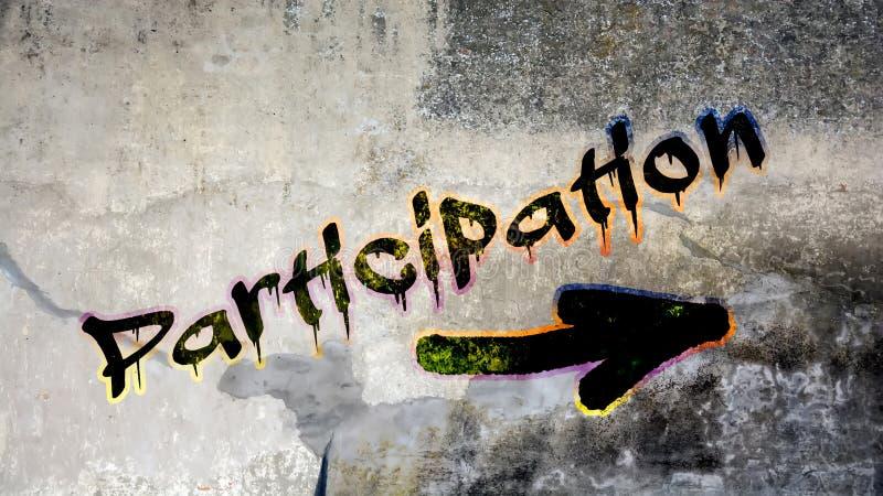 Graffiti de mur ? la participation photo libre de droits