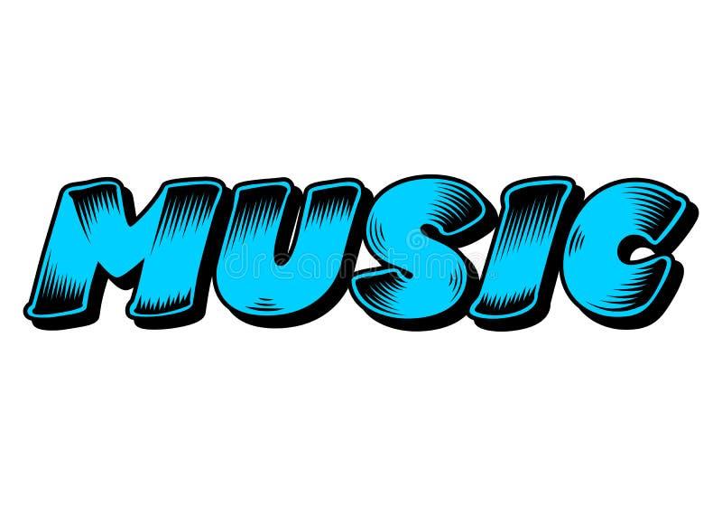 Graffiti de musique, art de bruit de conception de mot, vecteur illustration de vecteur
