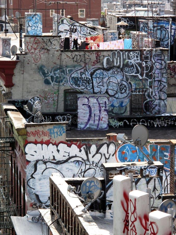 Graffiti de Ny image stock
