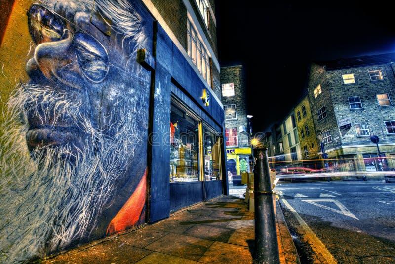 Graffiti de Oost- van Londen royalty-vrije stock afbeelding
