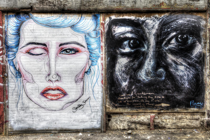 Graffiti de Oost- van Londen stock foto's