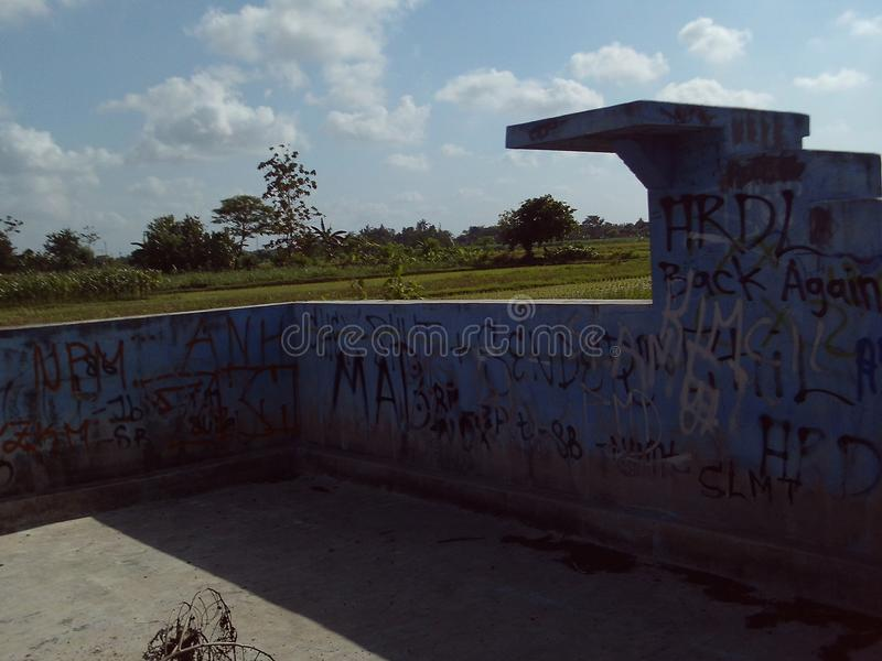 Graffiti de photo de mur de vandalisme images libres de droits