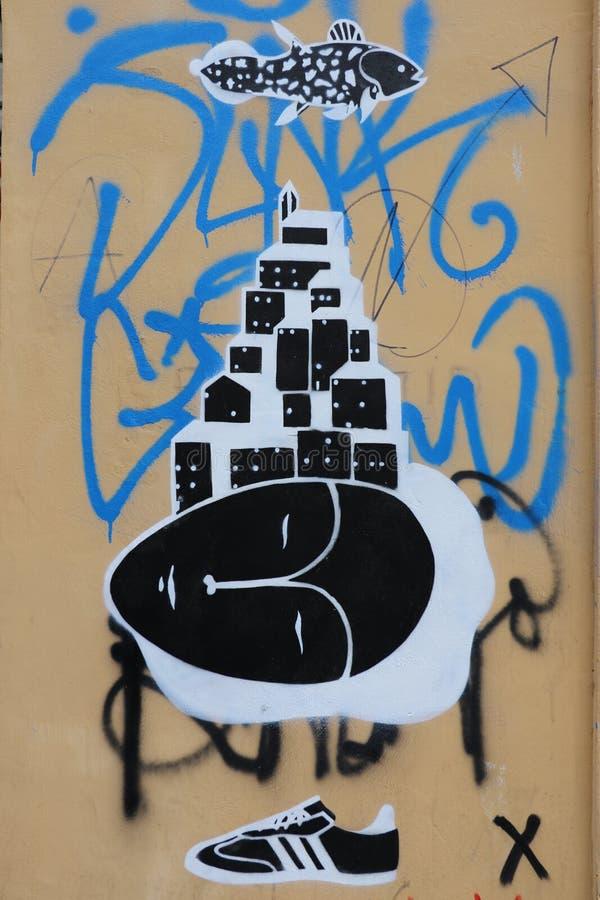 Graffiti de Rome photo libre de droits