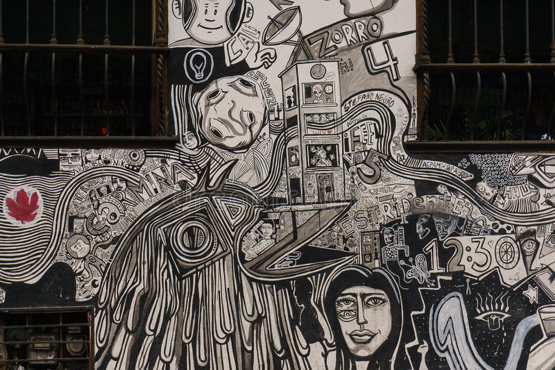 Graffiti de rue au ¡ de Bogotà photographie stock libre de droits