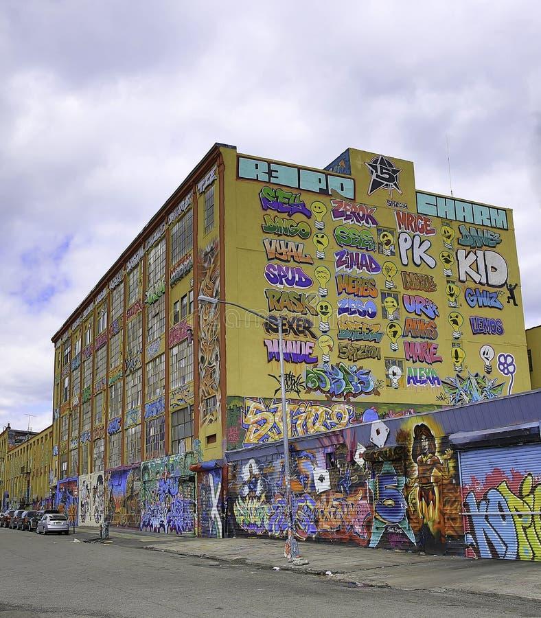 Graffiti in de Stad van New York stock afbeeldingen