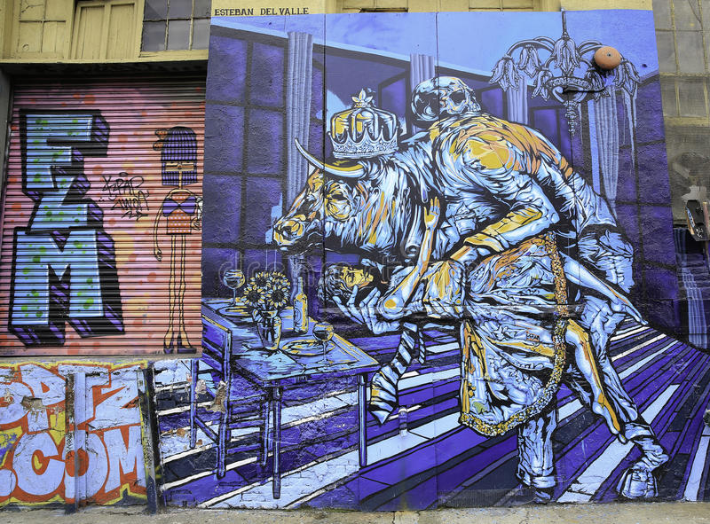 Graffiti in de Stad van New York royalty-vrije illustratie