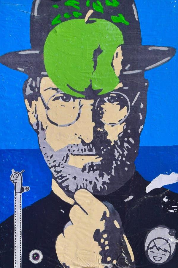 Graffiti de Steve Jobs image libre de droits
