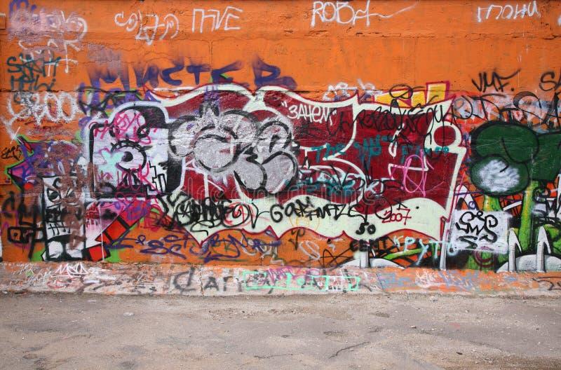Graffiti della città fotografie stock