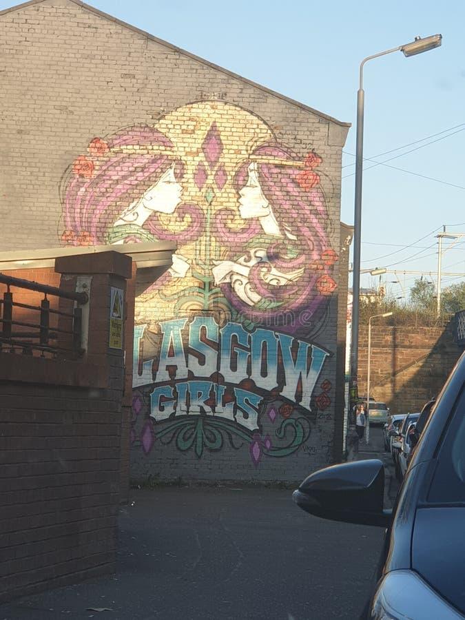 Graffiti della via di Glasgow immagine stock libera da diritti