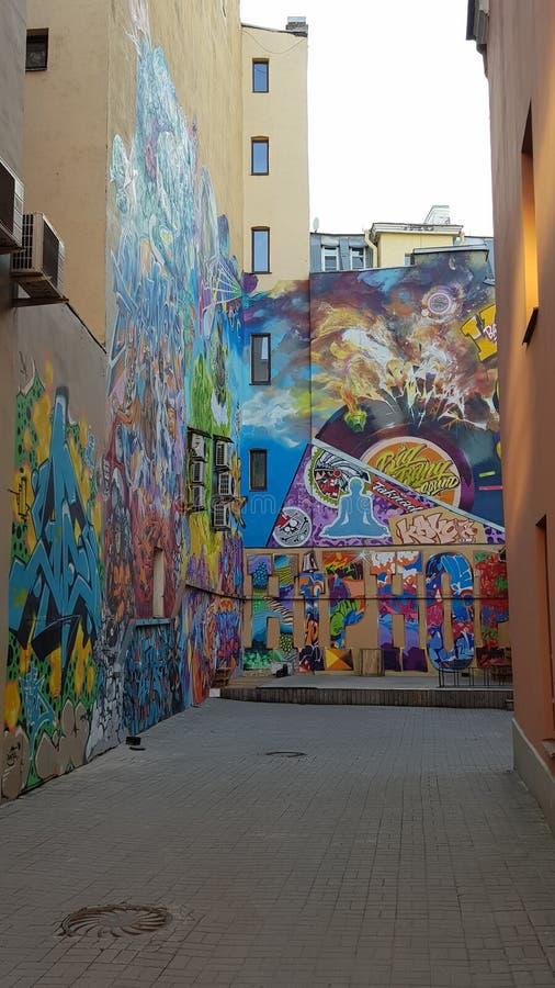 Graffiti della via in San Pietroburgo fotografie stock