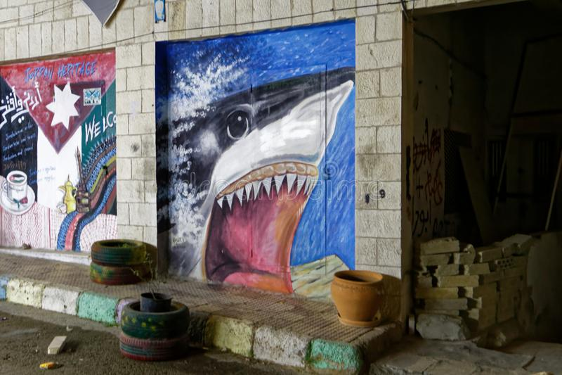 Graffiti dello squalo immagini stock libere da diritti