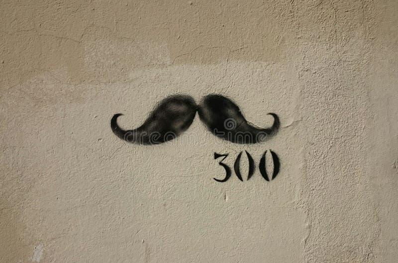Graffiti des moustaches image stock