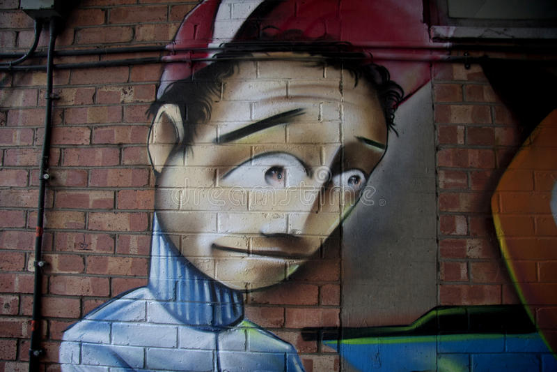 Graffiti Detail royalty free stock photography