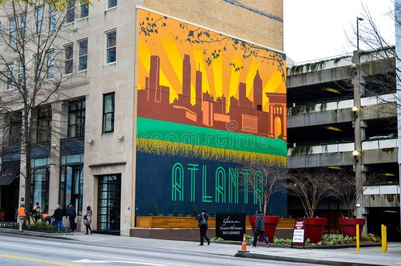 Graffiti di Atlanta fotografia stock