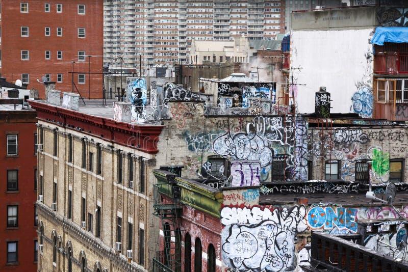 Graffiti domu ściana obrazy stock