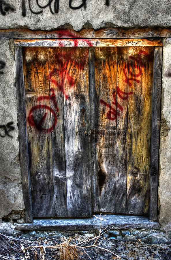 Graffiti door royalty free stock images