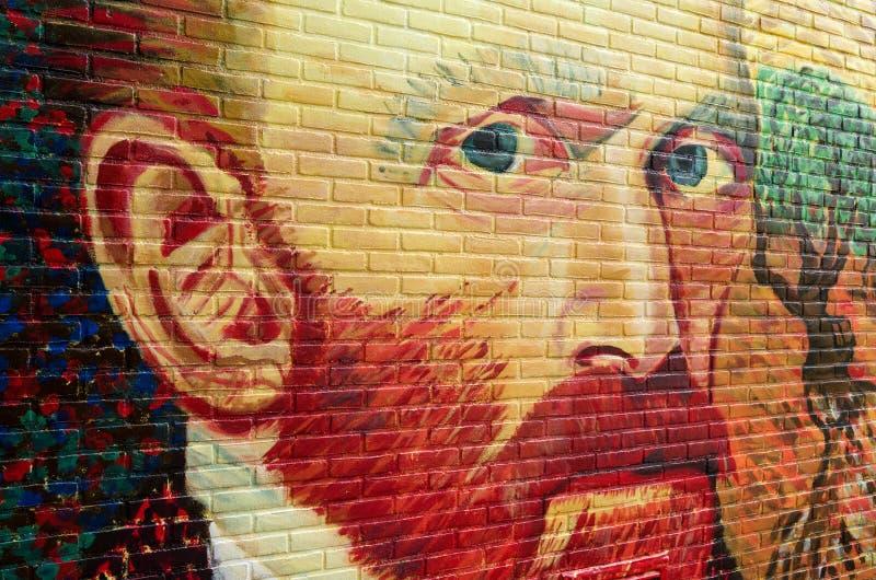 Graffiti drawing of Vincent van Gogh. stock photos