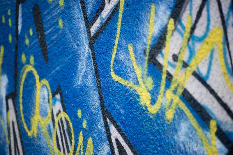 Graffiti drawing on the wall royalty free stock images