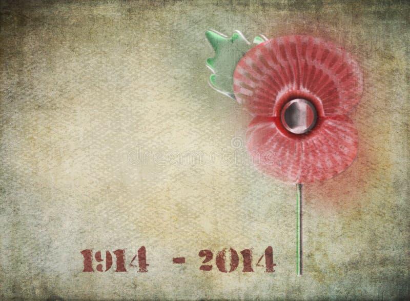 Graffiti du centenaire WW1 illustration de vecteur