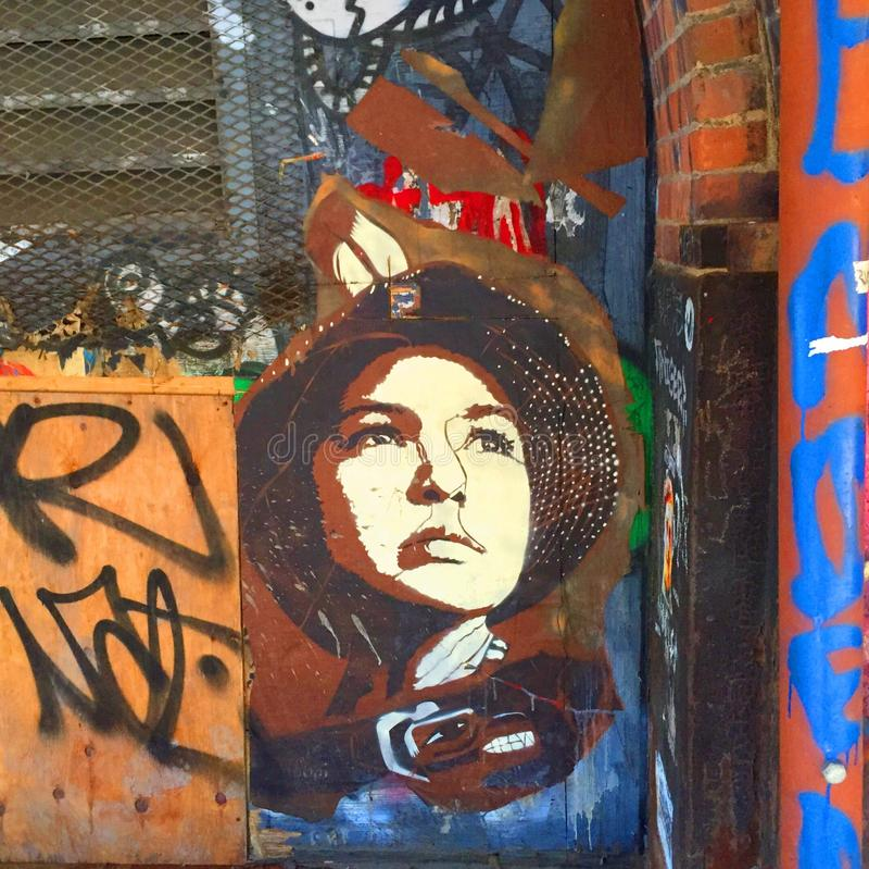 Graffiti in Dumbo lizenzfreie stockbilder