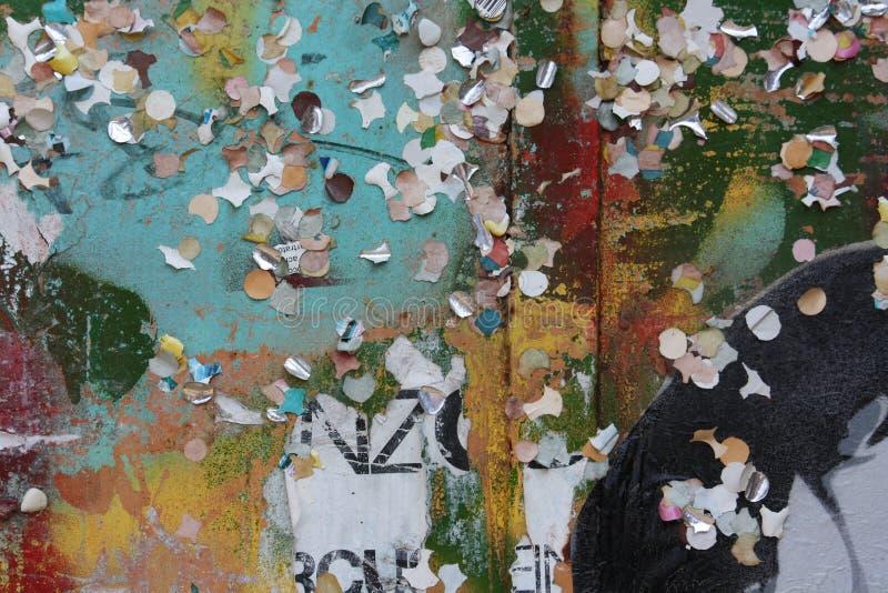 Graffiti e frammenti fotografie stock libere da diritti