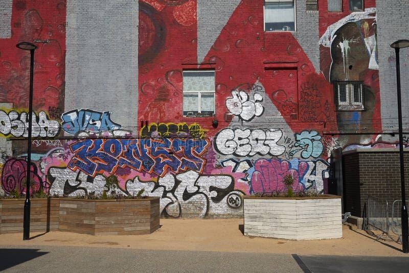 Graffiti en mèche de Hackney photo stock