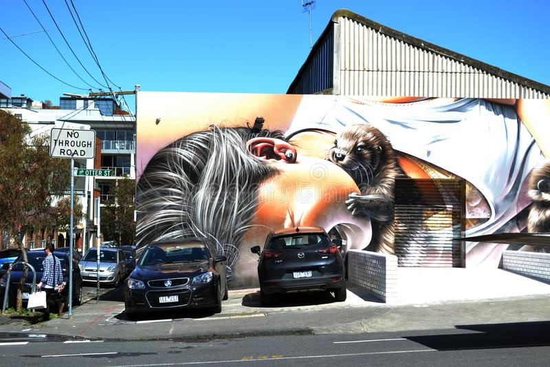 Graffiti et peinture murale à Melbourne photographie stock libre de droits