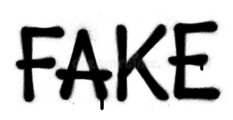 Graffiti fake word sprayed in black over white royalty free illustration