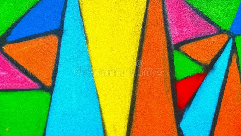 Graffiti farby ściana fotografia stock