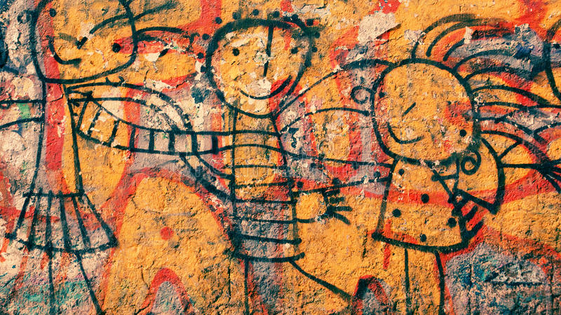 Graffiti felici fotografie stock libere da diritti
