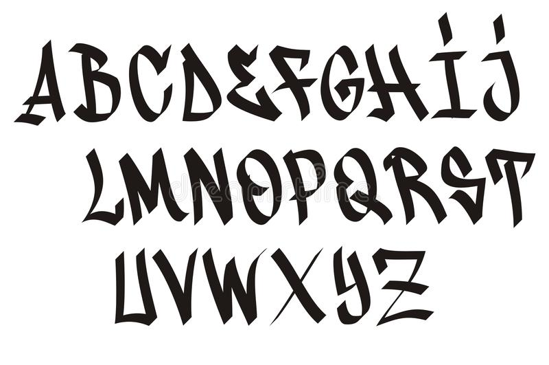Graffiti font royalty free illustration