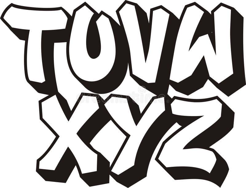 Graffiti font (part 3) royalty free illustration