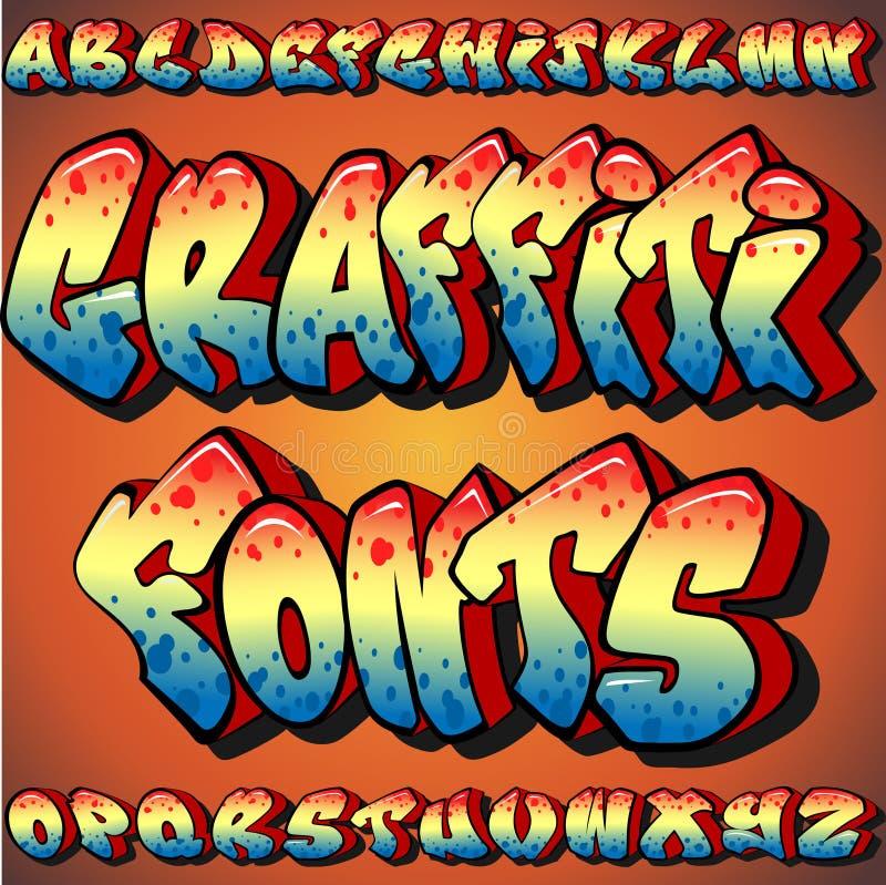 Graffiti Fonts royalty free illustration