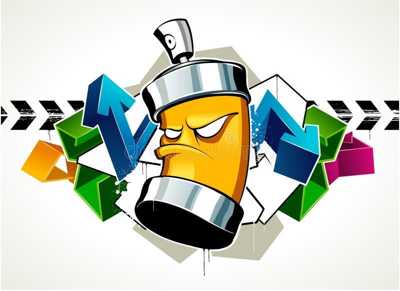 Graffiti freddi royalty illustrazione gratis
