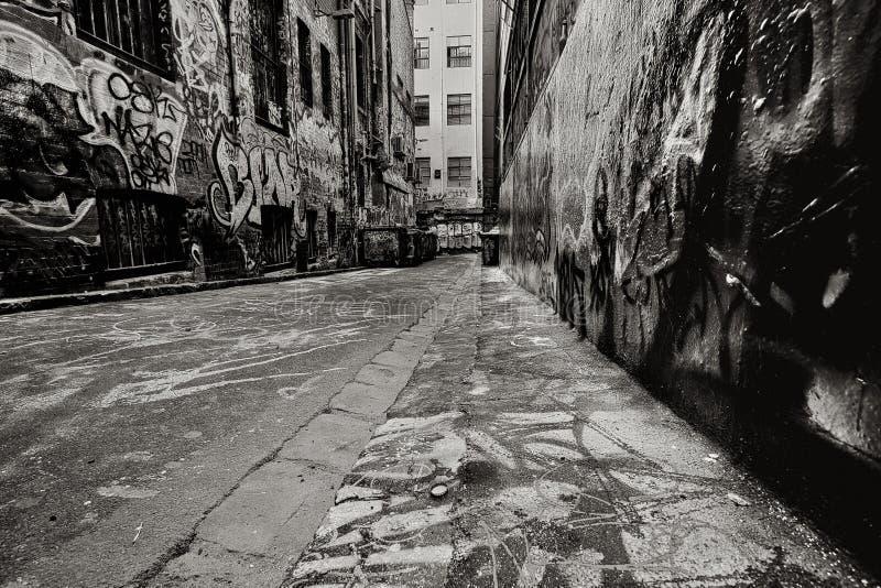 Graffiti-Gasse stockfotos