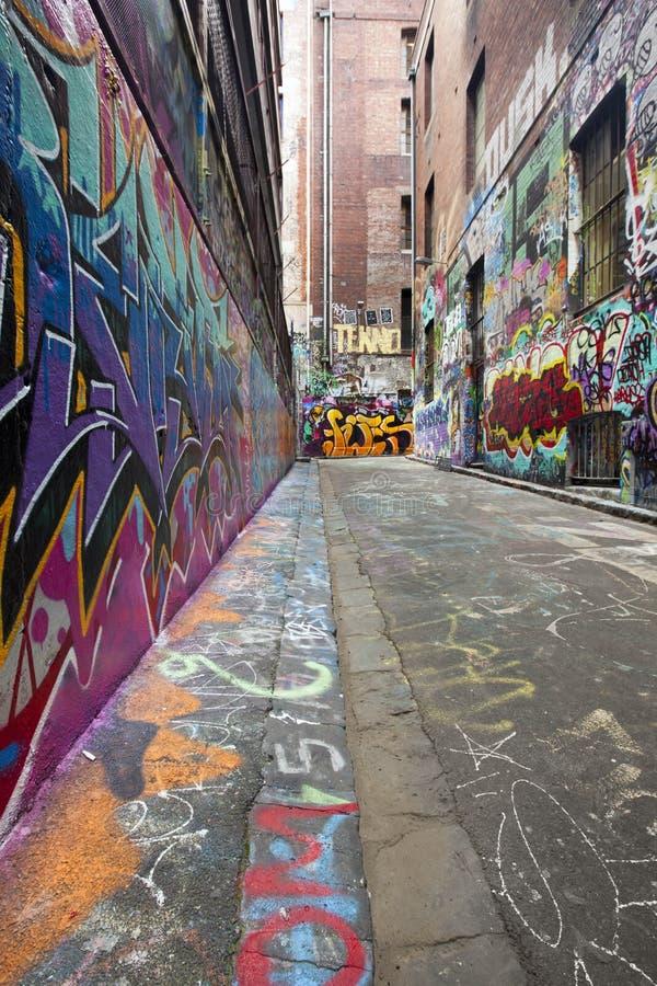 Graffiti-Gasse lizenzfreies stockfoto